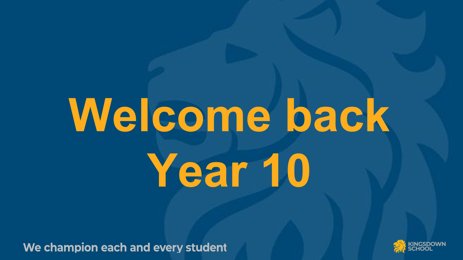 A return to school for Year 10 students